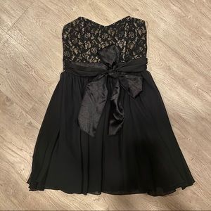 Trixxi strapless bow back cocktail dress